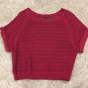 MODA International - Red knit sweater